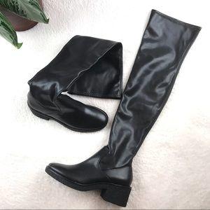 Zara Trafaluc Over the Knee Black Boots Size EU 37